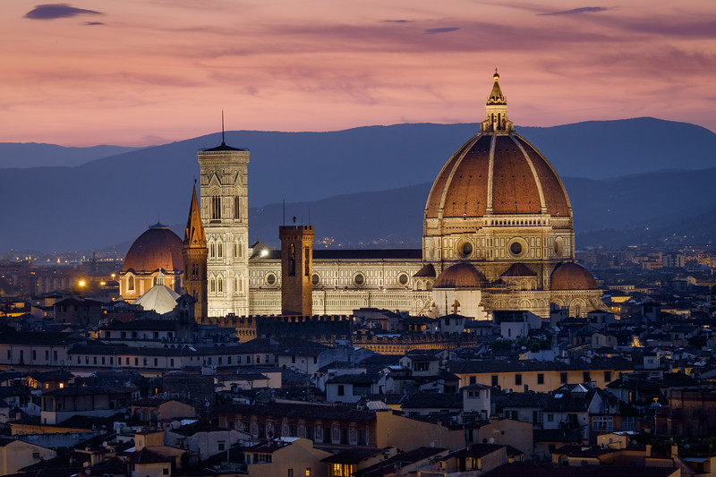 View over Cathedral of Santa Maria del Fiore (Duomo), Firenze, Italy