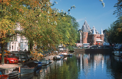 The Waag (Weigh house) view. Amsterdam, the Netherlands
