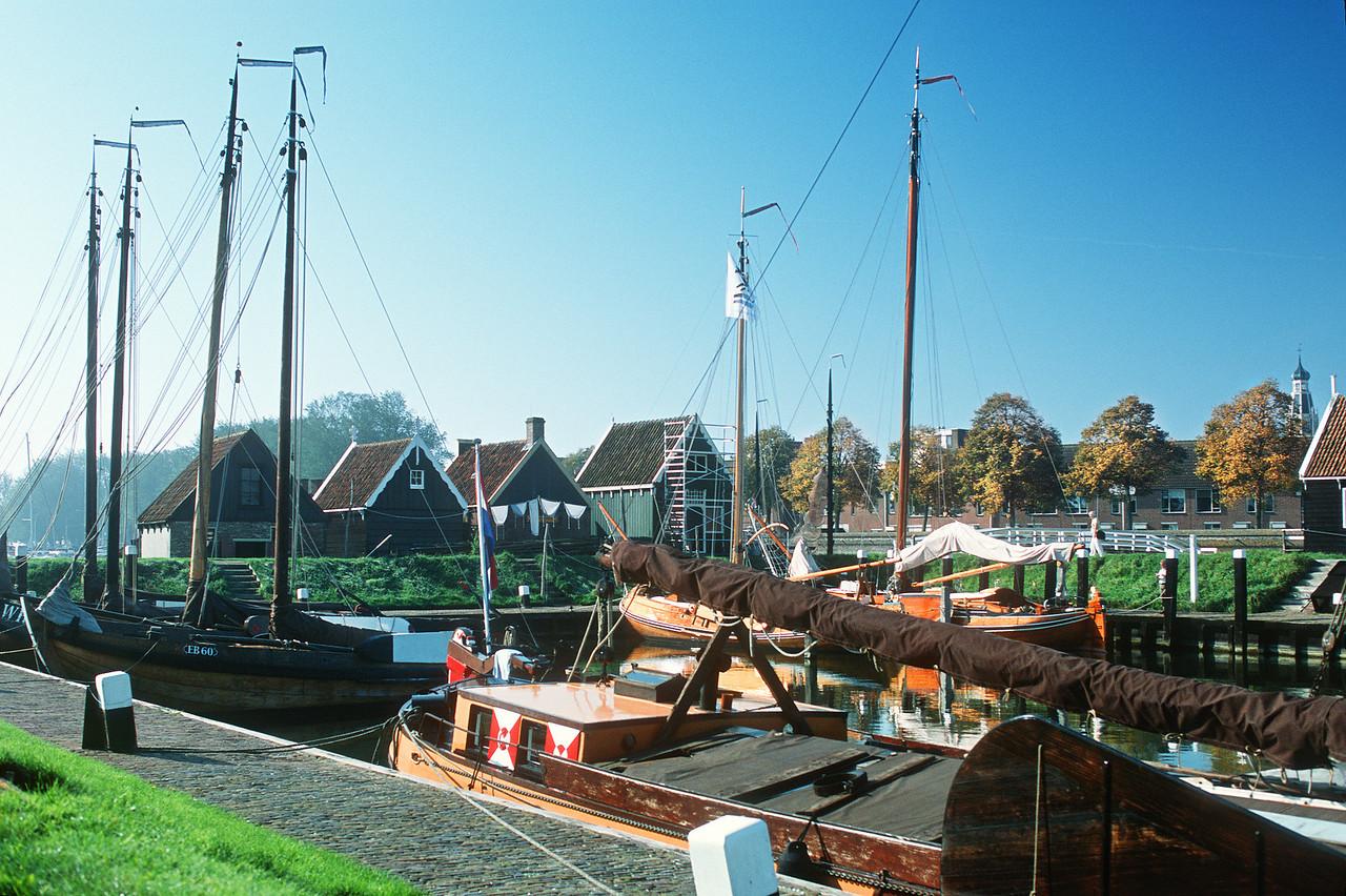 Zuiderzee Museum, harbor. Enkhuizen, The Netherlands