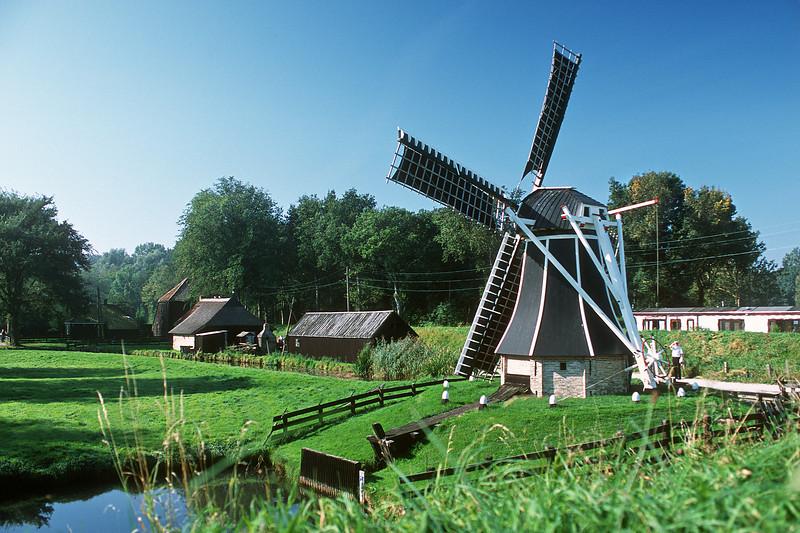 Zuiderzee Museum, windmill. Enkhuizen, The Netherlands