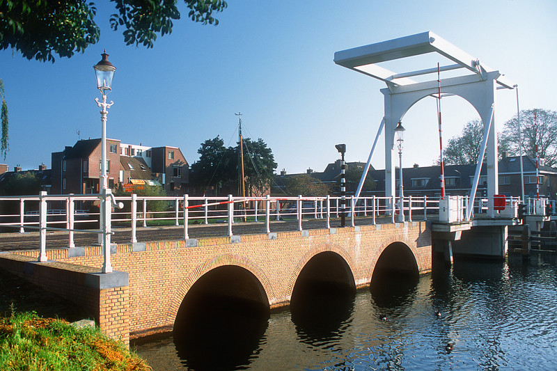 Bridge at Compagniestraat. Enkhuizen, The Netherlands