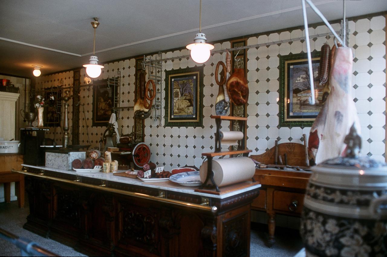 Zuiderzee Museum, butcher's. Enkhuizen, The Netherlands
