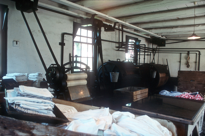 Zuiderzee Museum, steam laundry interior. Enkhuizen, The Netherlands