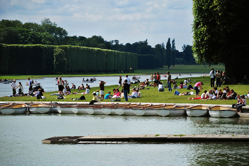 Versailles, People Having Rest by Water