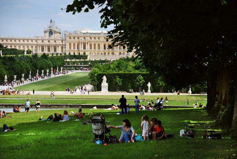 Versailles, People Having Rest