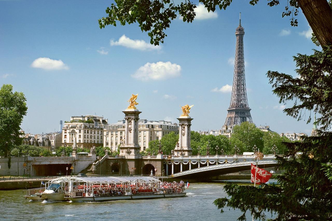 Seine river and la tour Eiffel view