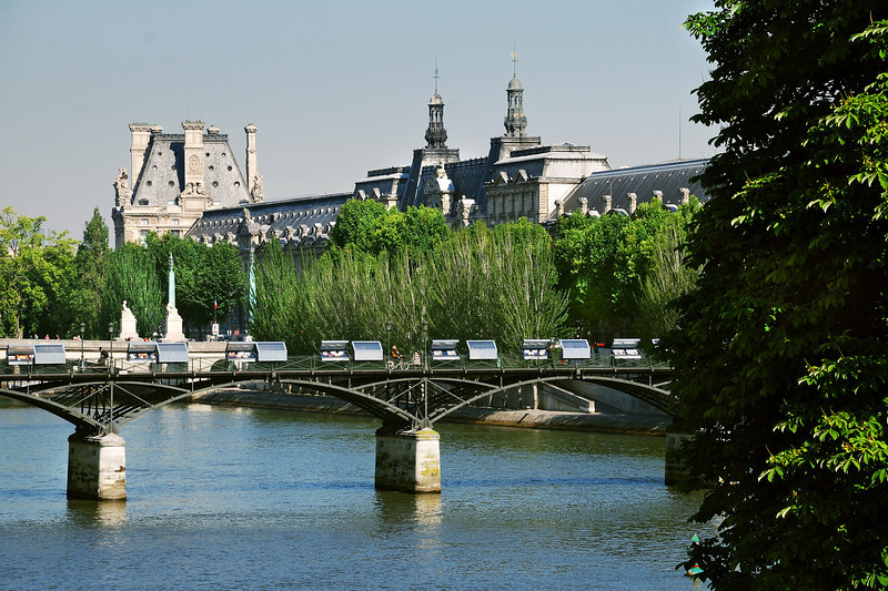 Seine river and Louvre view