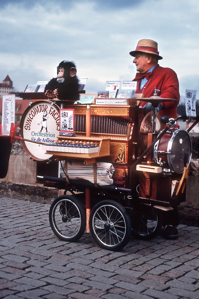 Шарманщик на Карловом мосту / Organ-grinder in Charles Bridge