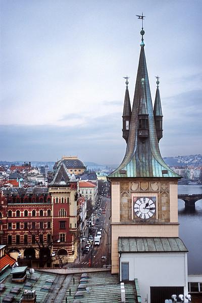 - Вид с Восточной мостовой башни Карлового моста в Праге<br /> - East Bridge Tower view in Prague