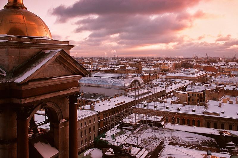 Санкт-Петербург. Вид со смотровой площадки Cобора преподобного Исаакия Далматского