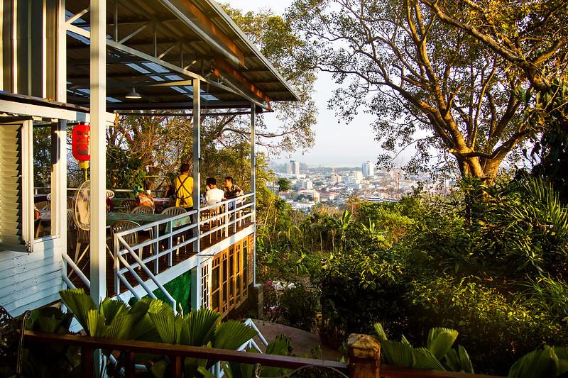 Restaurant at Rang Hill (Khao Rang). Phuket, Thailand