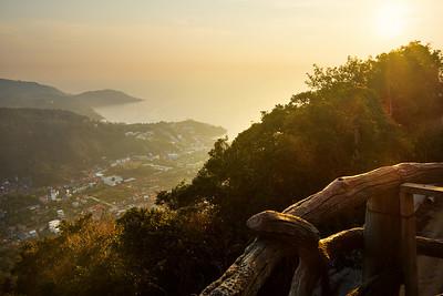 Sunset over Phuket Island, Thailand
