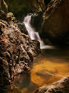 Bangpae Waterfall in Khao Phra Thaeo National Park. Phuket Island, Thailand