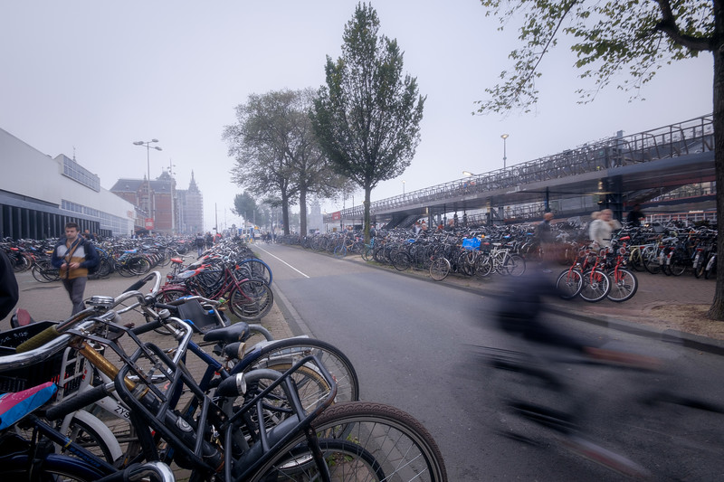 Bike parking, Amsterdam, The Netherlands<br /> Стоянка велосипедов в Амтердаме, Нидерладны