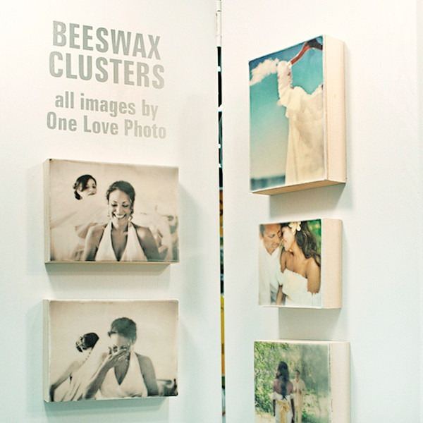 Beeswax cluster: a collection of photographs printed on tissue paper and then encapsulated in wax.