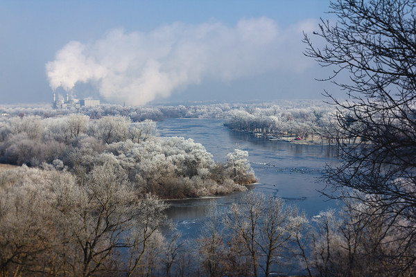 Hoar Frost over the Rock River