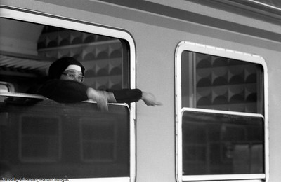 Nun on train