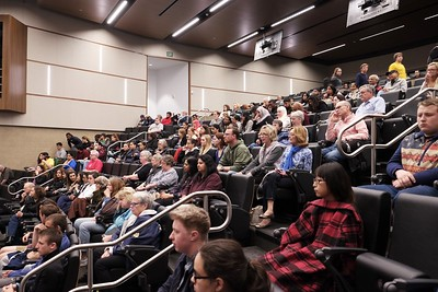 "Audience at public screening of ""India's Daughter at Benedictine University, Chicago, IL USA"