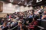 Audience at public screening of