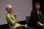 Dr. Pat Somers and Leslee Udwin at Benedictine University, near Chicago