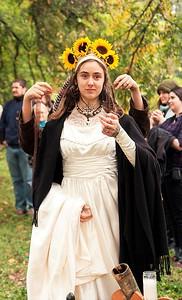 Bride at Handfasting - Nordic Wedding, Louisville, KY