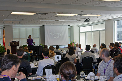 Global Protocal's Gloria Peterson conducts a seminar for graduate students at Kellogg School of Business, Northwestern University, Chicago