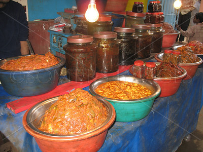 Achar shop in Tarakeshwar, West Bengal, India