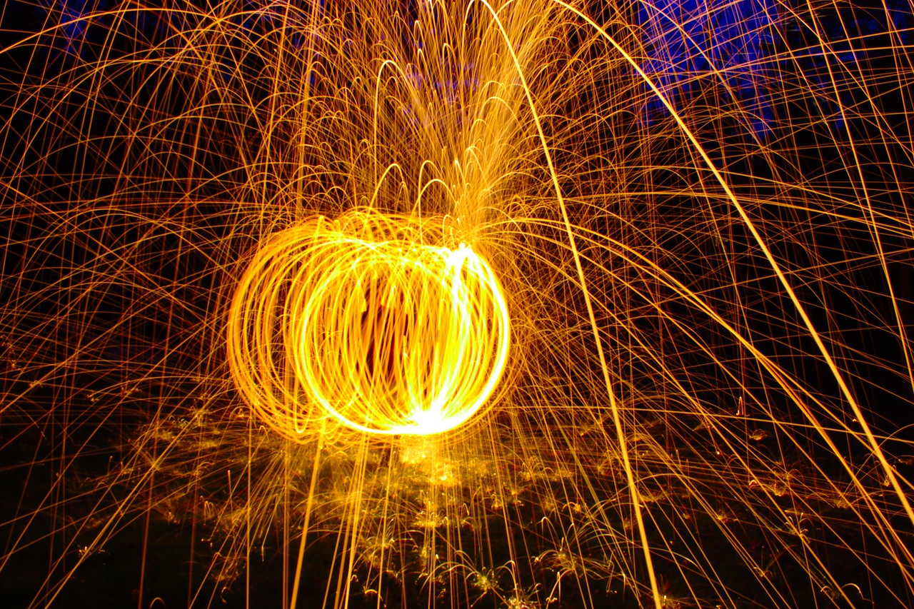 Fun with burning steel wool