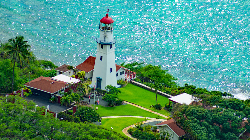 Lighthouse in Oahu, Hawaii