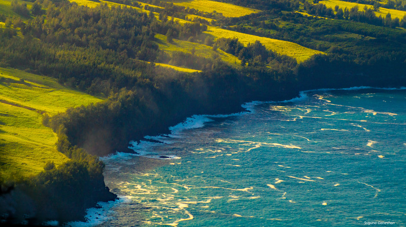 Aerial view of Coastline, Hawaii