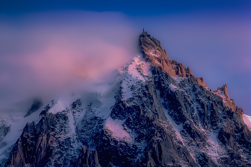 Aiguille du Midi- taken from Chamonix, France