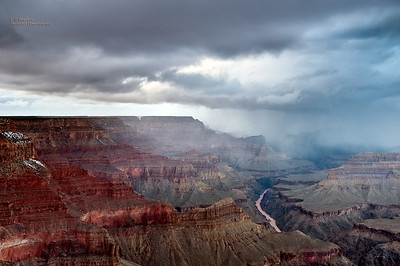 Stormy Grand Canyon South Rim View