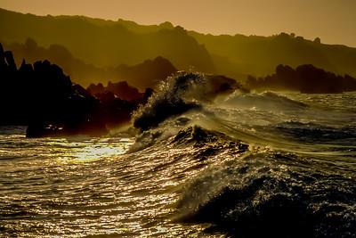 Pre hurricane waves crashing ashore Cabo San Lucas, Baja California Sur, Mexico