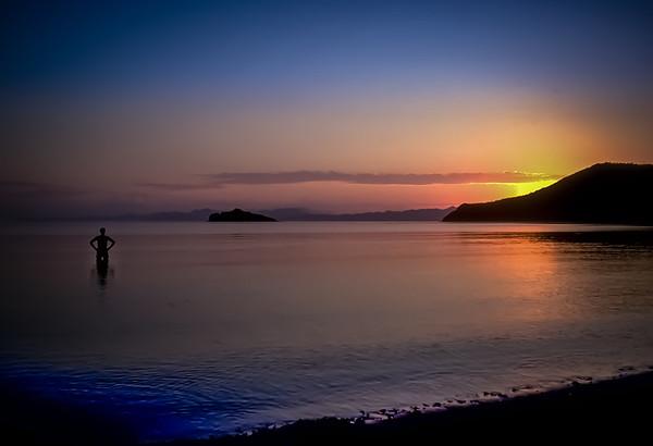 Sunrise over Bahía Concepción, Sea of Cortez