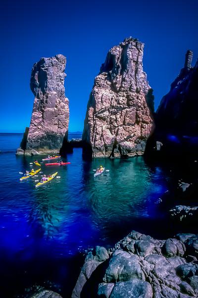Sea Kayaking at Isla Espiritu Santo, Baja California Sur, Mexico