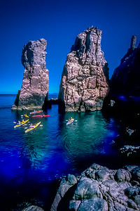 Sea Kayaking at Isla Espiritu Santo, Baja California Sur, Mexico