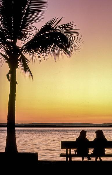 Sunset on the Malecón de La Paz, Baja California Sur, Mexico
