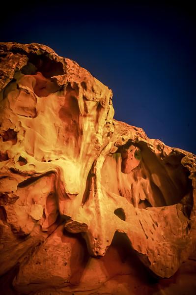 Rocks above La Paz, Baja California Sur, Mexico