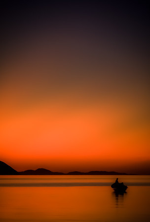 Sunrise on Bahía de los Ángeles, Baja California, Mexico