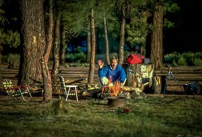 Camping at Laguna Hanson in the Sierra de Juarez mountains, Parque Nacional Constitucion de 1857