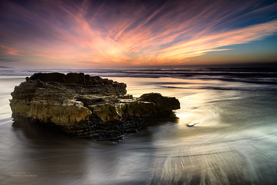 Sunset at Wall Beach