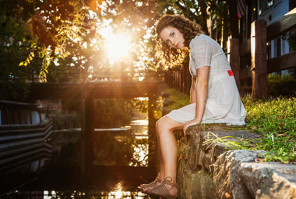 Golden glow of sunset at the C&O Canal.