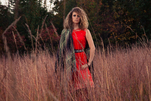 Boho chic in the woods.