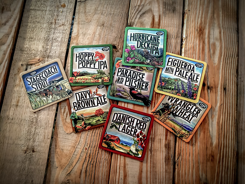 These colorful Micro Brew Coasters arrived in the snail mail today from my 'ol high school buddy Frank who's off slamming Idaho Brown Trout on the fly! Davy Brown Ale, Hurricane Deck Double IPA, Figueroa Mountain Pale Ale… all named in honor for Los Padres National Forest & San Rafael Wilderness destinations.      I have to stop by for a taste on my next trip to California, @figmtnbrew founded in the Santa Ynez Valley, the Figueroa Mountain Brewing has a passion for quality beer!