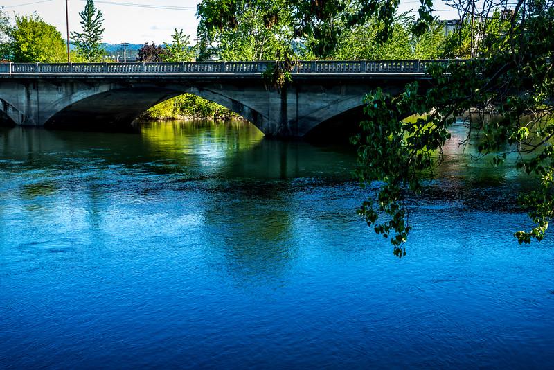 Spokane River view from the No-Li Brewhouse- Spokane Craft Beer Festival 2015