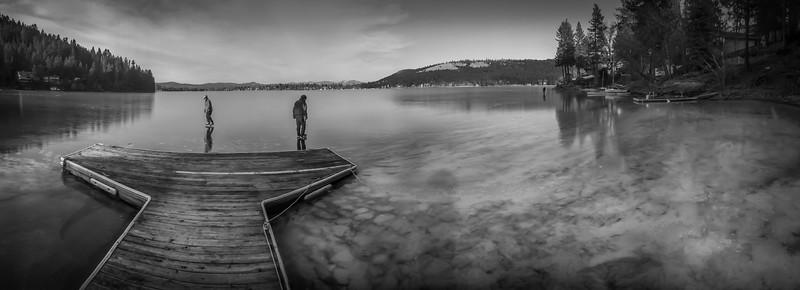 Ice Skating on Liberty Lake, Washington