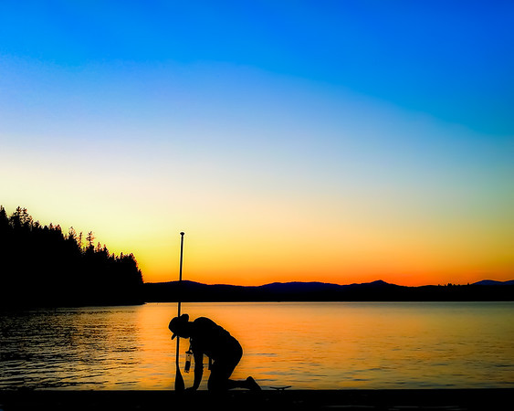 On the Dock, Dreamwood Bay, Liberty Lake, Washington