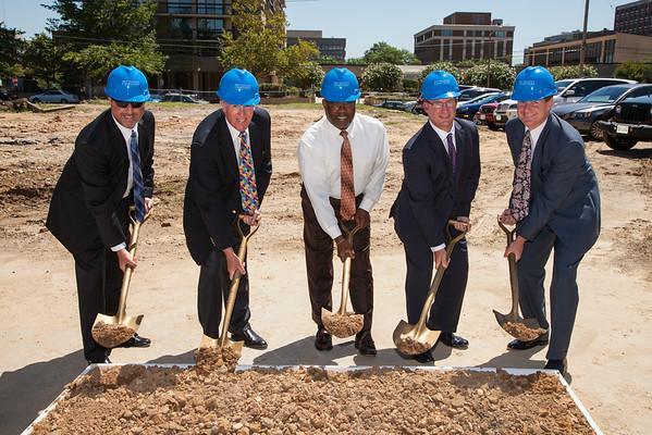 Construction ground breaking ceremony in Alexandria, VA
