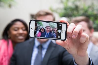 Selfie candid event photo