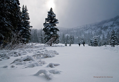 Snow Shoeing near Echo Summit